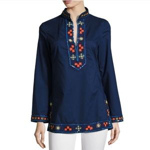 Tory Burch Blue Beaded Embellished Tunic 4